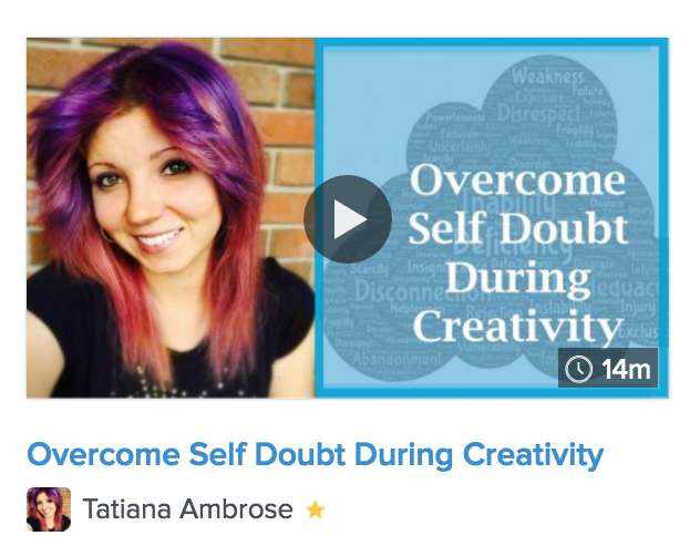 overcome self doubt during creativity, overcome doubt, boost confidence in creativity, creative exercises