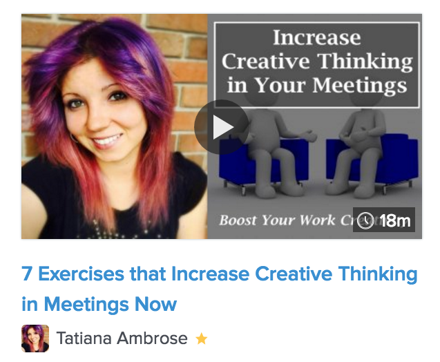 office creativity, job creativity, be more creative at work, meeting creativity, creative exercises at work,